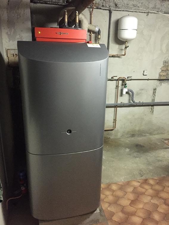 Chaudière fioul condensation avec production ECS intégrée